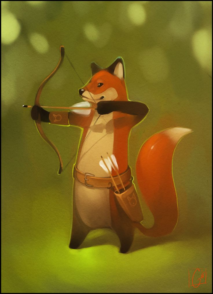 Fox-archer by GaudiBuendia fox archer ranger bow arrows humanoid anthropomorphic armor clothes clothing fashion player character npc | Create your own roleplaying game material w/ RPG Bard: www.rpgbard.com | Writing inspiration for Dungeons and Dragons DND D&D Pathfinder PFRPG Warhammer 40k Star Wars Shadowrun Call of Cthulhu Lord of the Rings LoTR + d20 fantasy science fiction scifi horror design | Not Trusty Sword art: click artwork for source
