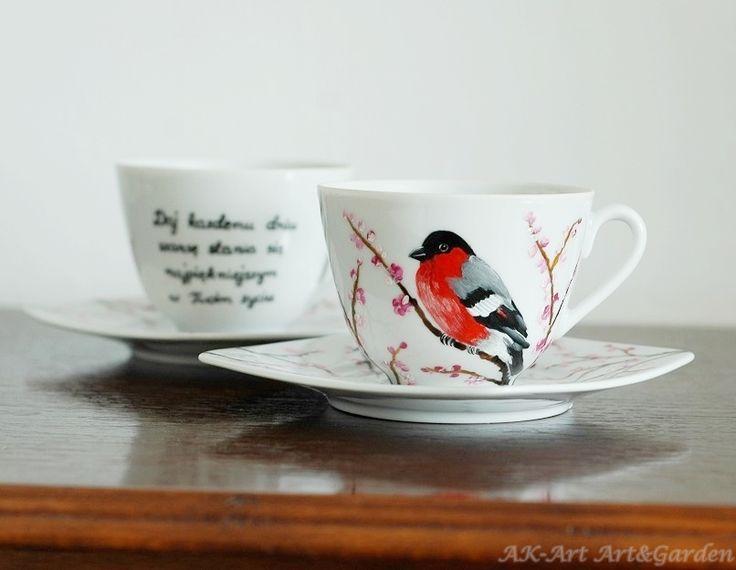 Ręcznie malowana filiżanka / Hand painted cup