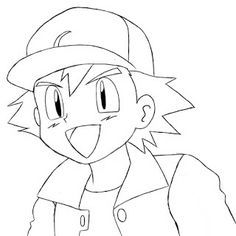 pokemon easy drawings | How To Draw Ash Ketchum