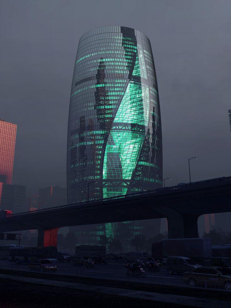 Galeria de Zaha Hadid Architects divulga imagens da torre com o átrio mais alto do mundo - 2