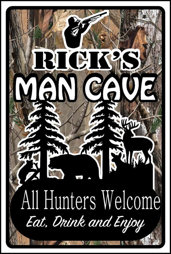 Hunters Man Cave Signs : Basement man cave welcome to our home pinterest