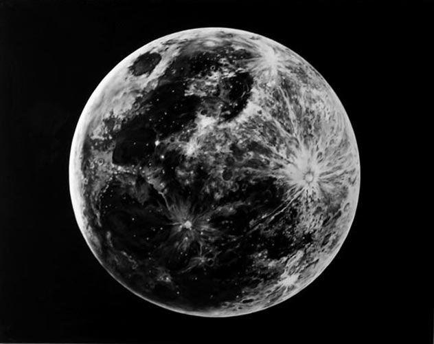 Robert Longo, Untitled (Last Moon), 2007. Charcoal on mounted paper. Image © Robert Longo, Courtesy Metro Pictures, New York .