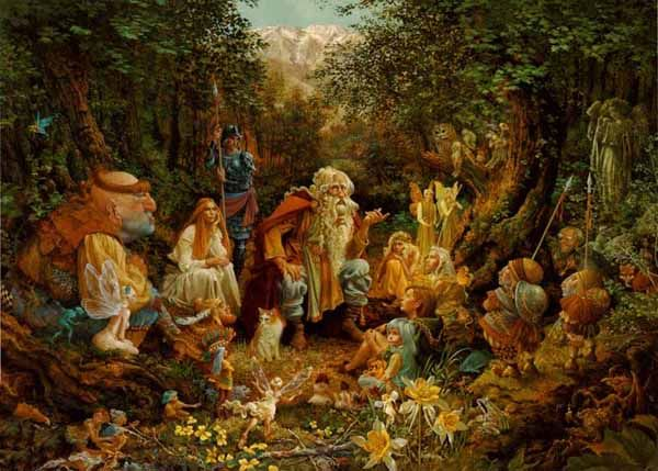Story Time - James Christensen: Friends, Living Room, Painting, Favorite Pictures