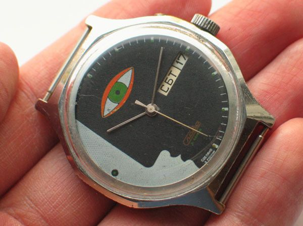 interesting mechanisms with faces russian watches