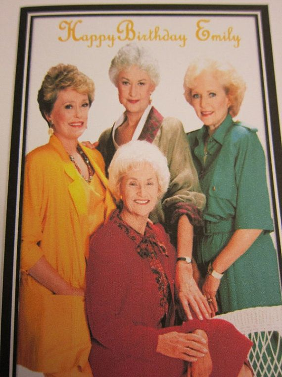 Chose between the following options  -1 personalized birthday card - 6 blank invitations both chooses come with envelops If youre interested, we also have this card that includes a necklace Golden Girls in this link: https://www.etsy.com/listing/232863564/personalized-card-with-the-golden-girls?ref=shop_home_active_2  Please verify shipping address, we are not responsible for orders lost due to shipping errors. please feel free to contact us ! THANKS FOR LOOKING....