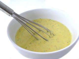 Skinny Honey Mustard Dressing (23 calories a tablespoon) This NEW dressing is great on salads, coleslaw, potato salad or as a dip for veggies. Each 2 tablespoon servings has just 46 calories, 2 grams of fat and 1 Weight Watchers POINTS PLUS. http://www.skinnykitchen.com/recipes/skinny-honey-mustard-dressing-23-calories-a-tablespoon/