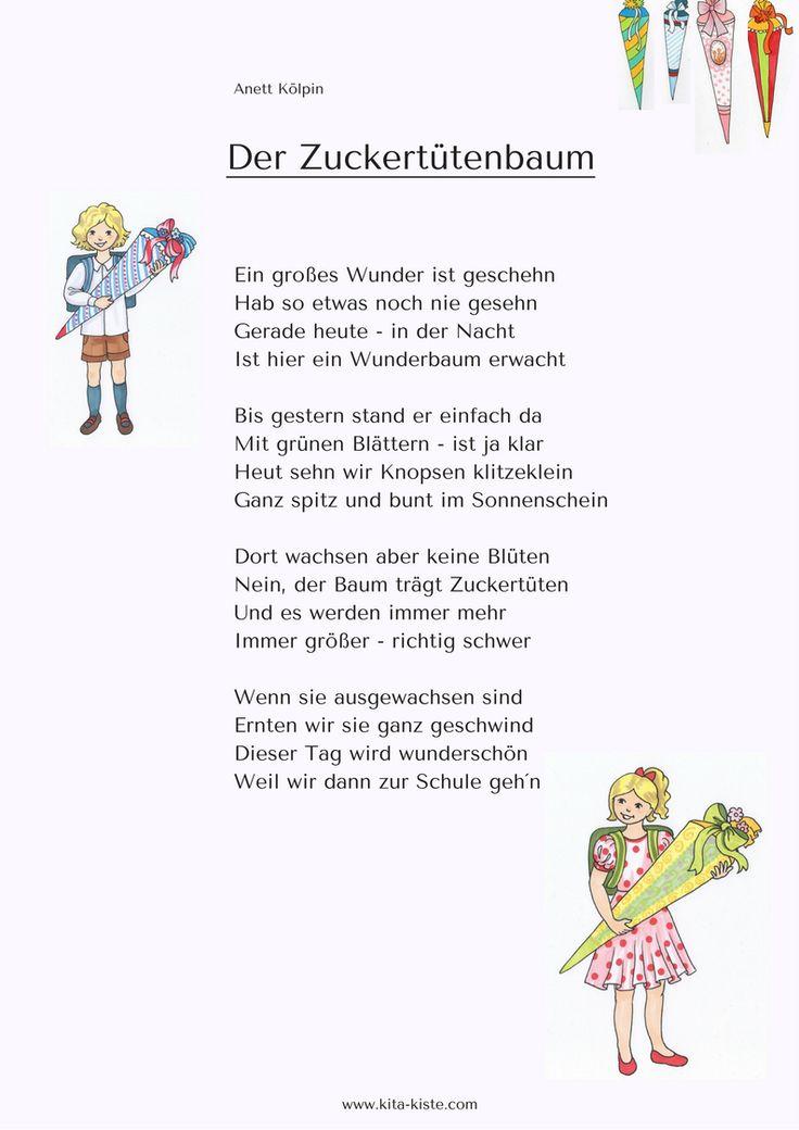 Vorschulgedicht - für Sommerfest oder Einschulung - www.kitakiste.jimdo.com
