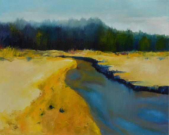 Oil Painting Oil Landscape Painting River Painting Abstract Oil Painting Landscape Landscape Paintings River Painting