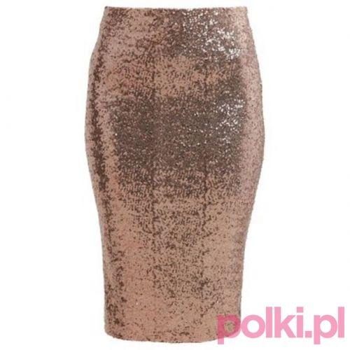 Złota spódnica ołówkowa Dorothy Perkins #polkipl #moda