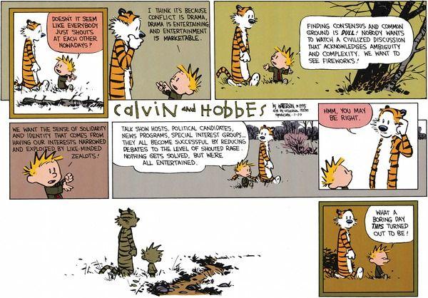 Calvin and Hobbes strip for November 29, 2015
