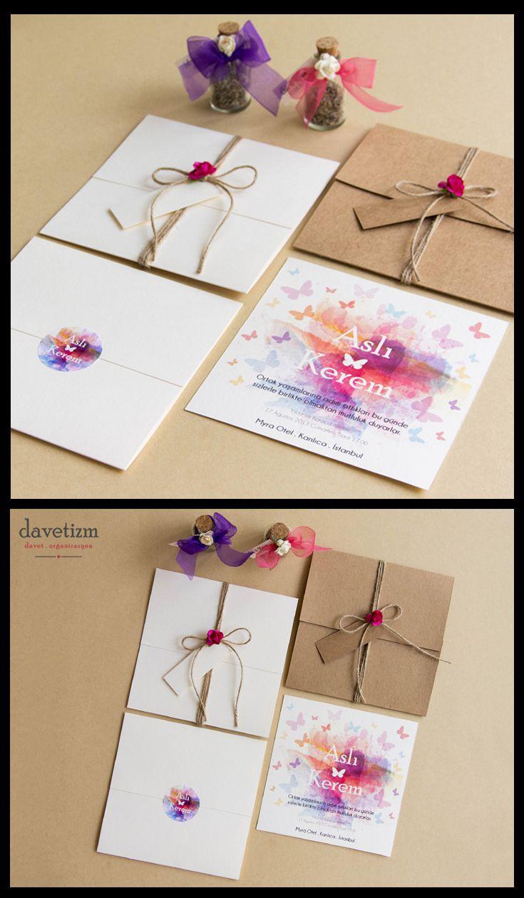 Kelebekler misali özgür ve bir o kadar renkli çiftler için... Masallar diyarına bir yolculuğa hazır mısınız? #davetizm #davetiye #wedding #invitation