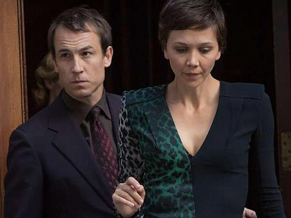 """Tobias Menzies and Maggie Gyllenhaal in """"The Honorable Woman."""""""