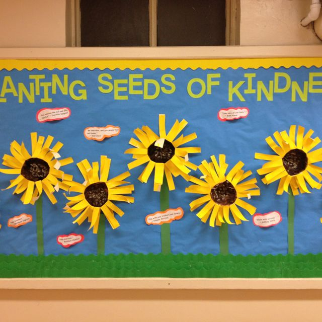 anti bullying great bulletin board for promoting kindness planting seeds ofhave students write out how they will promote kindness in the school bulletin boards