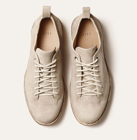 Unmatchable in: Everlasting footwear Because… Construction leads design. Founded by brothers Tull and Josh Price, FEIT hand-builds most shoes from one piece of leather (i.e. more comfort and a nice minimalist look). They're pricey, but you're good going barefoot: FEIT's leathers breathe and don't retain sweat and odor. Hike Low suede shoe, $600; feit.com
