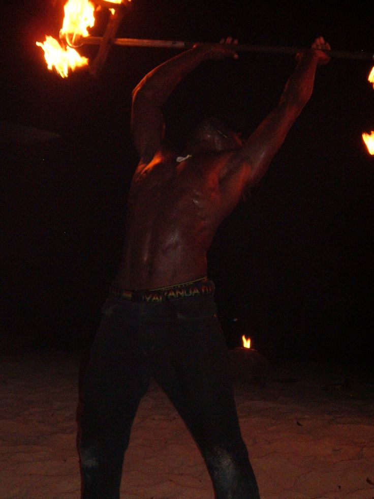 Local Fire Dancing group performs on Erakor Island (i was quite entranced because they were all shirtless and were quite fit!!)