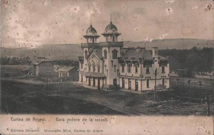 Curtea de Arges - Gara anii 1900