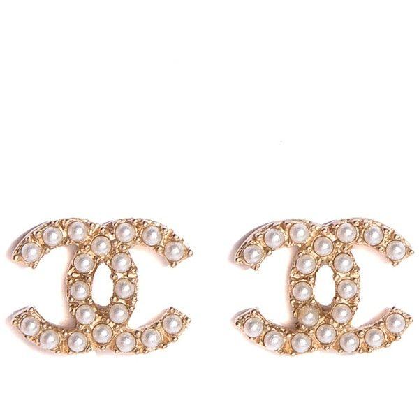 Coco Chanel Cc Logo Stud Earrings Stud Earrings References