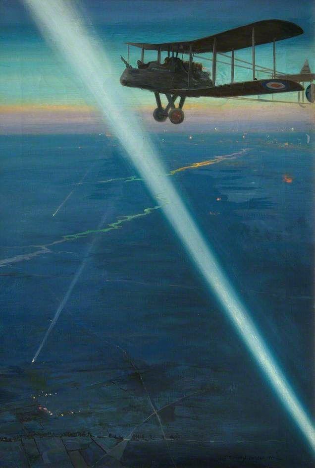 Enemy Aerodrome Active by Emile Antoine Verpilleux, 1919.