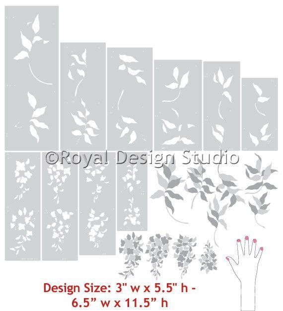 Wisteria Floral & Vine Stencil