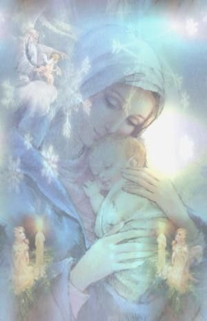 Our Holy Mother Mary and Baby Jesus ..