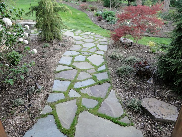 Best 25+ Flagstone paving ideas only on Pinterest | Pebble walkway ...