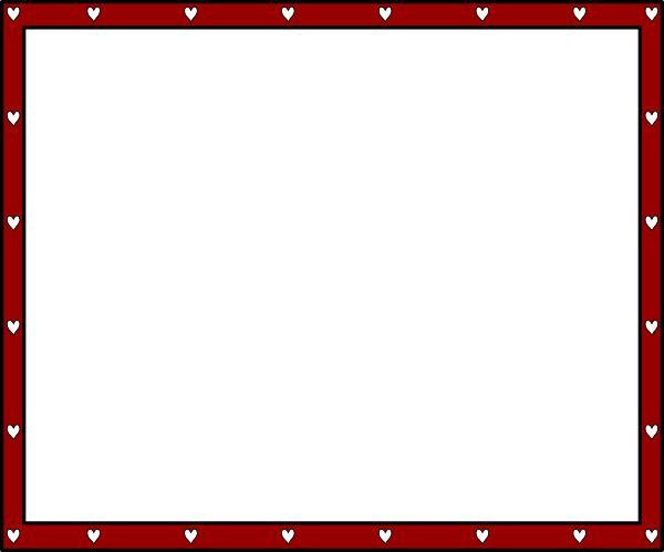 Heart Word Borders Templates Free | border1 clip art