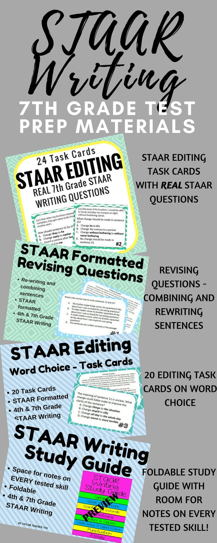 7th grade staar writing test prep