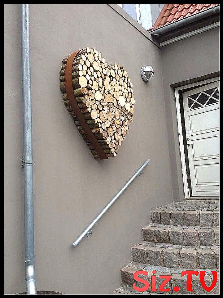 Herz aus Holz in Metallring Herz aus Holz in Metal…