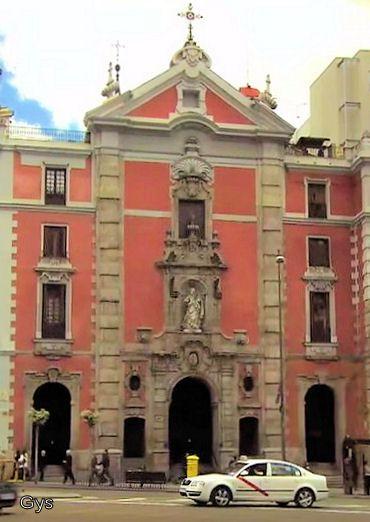 Iglesia de San José, joya del Barroco del s. XVIII, calle Alcalá, Madrid