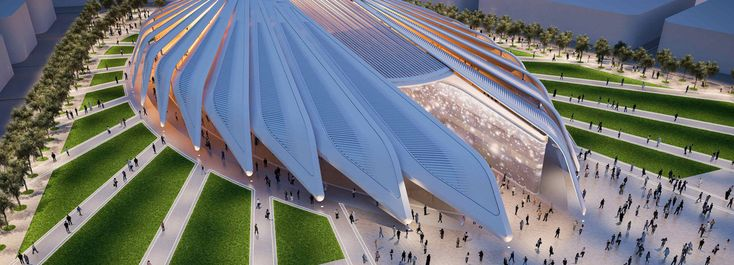 santiago calatrava's UAE pavilion for dubai expo 2020 breaks ground