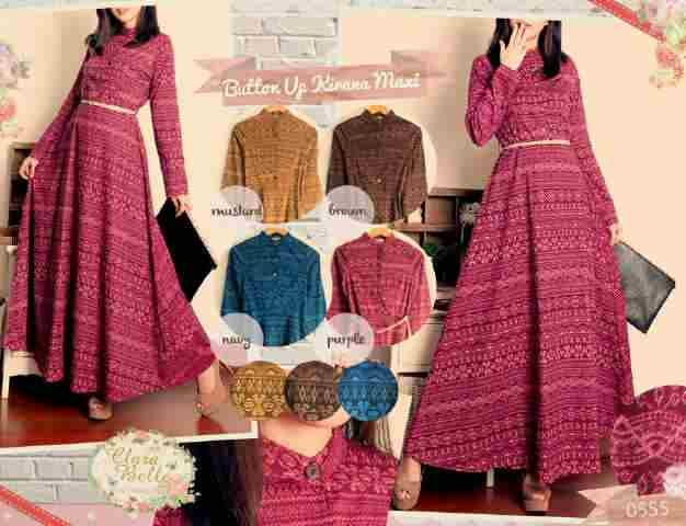 0555.44 dress - IDR 135,000 - bahan katun stretch(bukaan kancing depan)fit to L