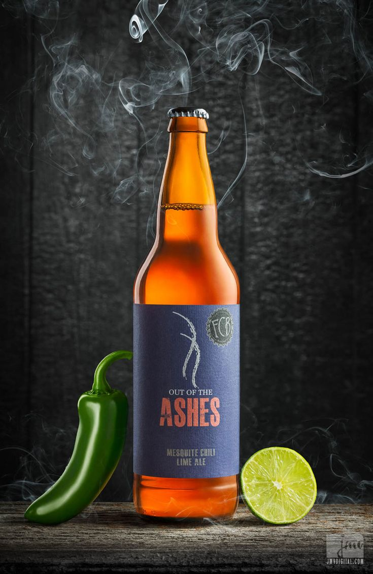 Tutorial lighting drinks and other product photography - Out Of The Ashes Craft Beer Behind The Scene Of A Beverage Photography Assignment