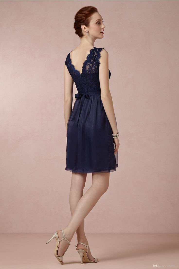 75 best my main ladies images on pinterest flower girls for Navy blue dress wedding guest