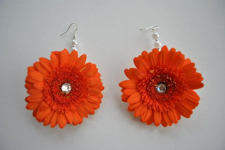 Orange Gerba Earrings Perfect for any Mehndi