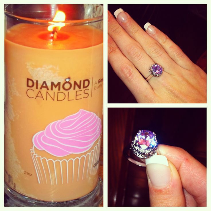 Lovely ring discovered in a soy candle by Diamond Candles.