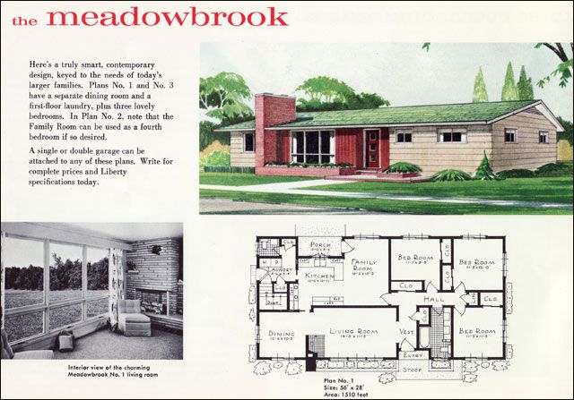 Midcentury Ranch Style Houses Mid Century Ranch Plan