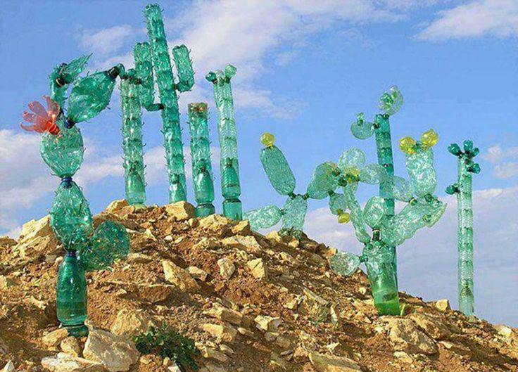 hacer manualidades reciclando botellas