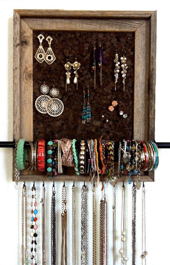 DIY jewelry organizerDiy Ideas, Jewelry Hangers, Crafts Ideas, Jewelry Displays, Diy Jewelry, Jewelry Organic, Custom Jewelry, Organizers, 11X14 Custom