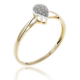 Achat Bague Femme or jaune 1.20g, Diamant 0,09 ct - Le Manège à Bijoux
