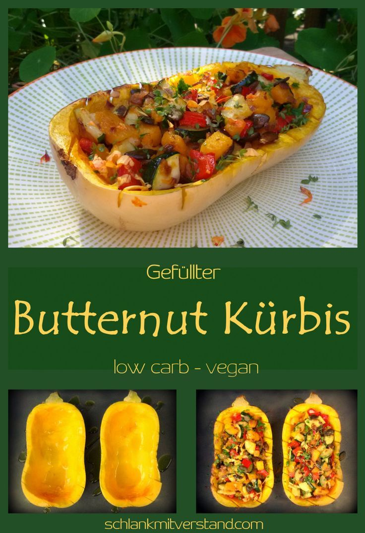 Gefullter Butternut Kurbis Low Carb Vegan Low Carb Vegan Kurbis Rezepte Vegetarisch Butternut Kurbis Rezept