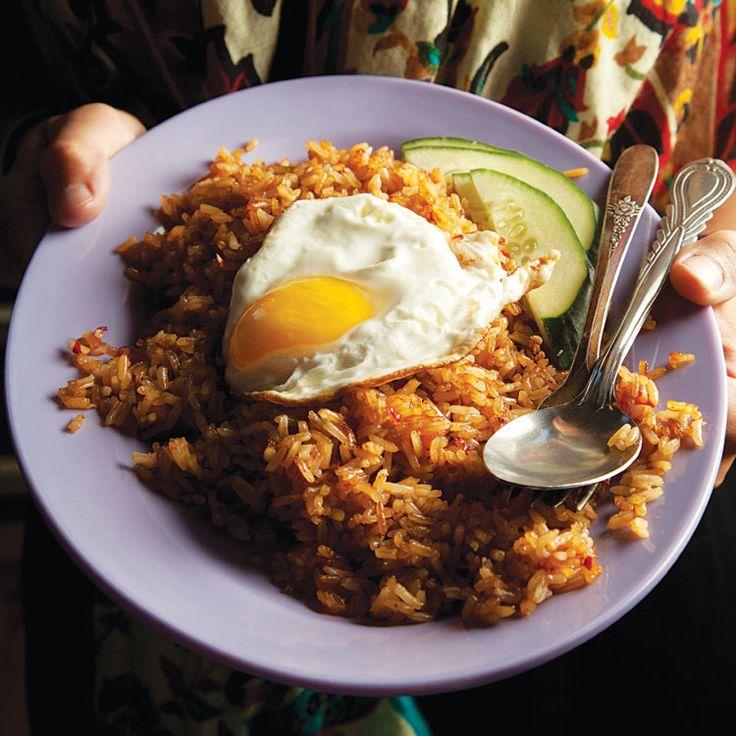 Nasi Goreng (Indonesian Fried Rice)  Recipe - Saveur.com  #Indonesia