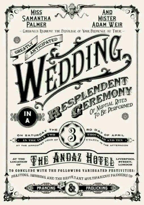 Steampunk wedding invitation Keywords: #steampunkweddings #jevelweddingplanning Follow Us: www.jevelweddingplanning.com www.facebook.com/jevelweddingplanning/