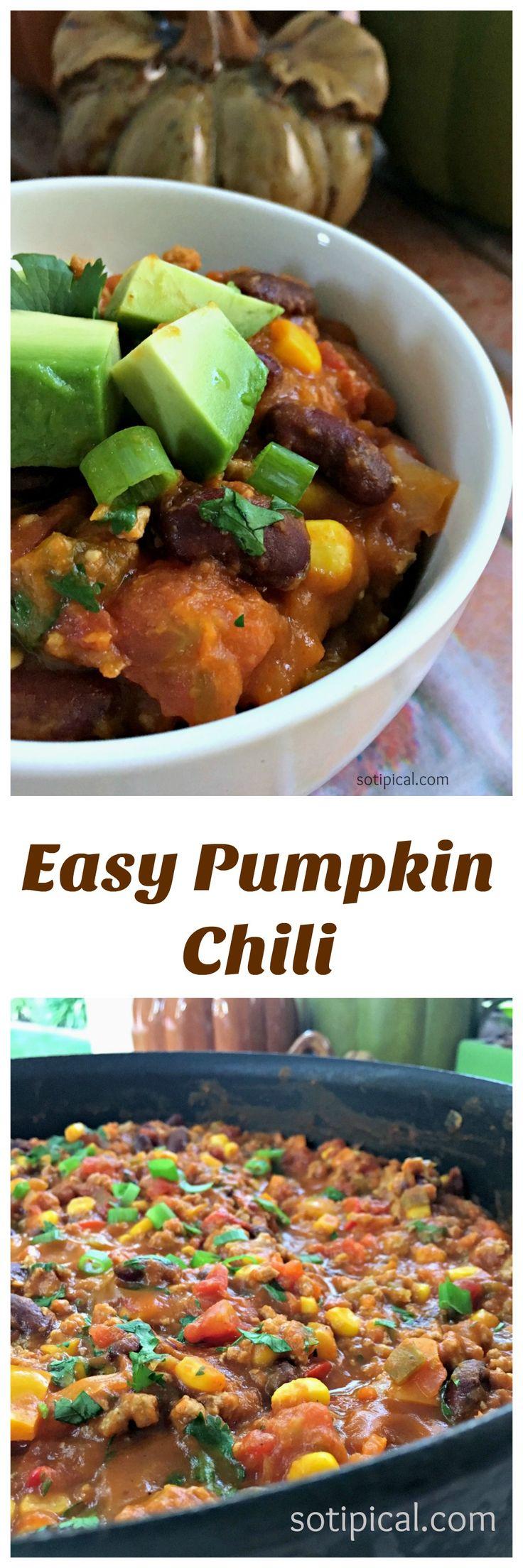 Easy Pumpkin Chili - So TIPical Me ad #BushsBeansFallFlavors