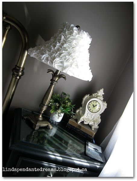 lindapendante dreams: Ruffled Lamp Shade Makeover With Tutorial