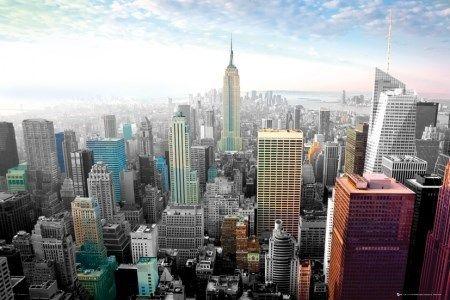 New York Cityscape Colours - plakat