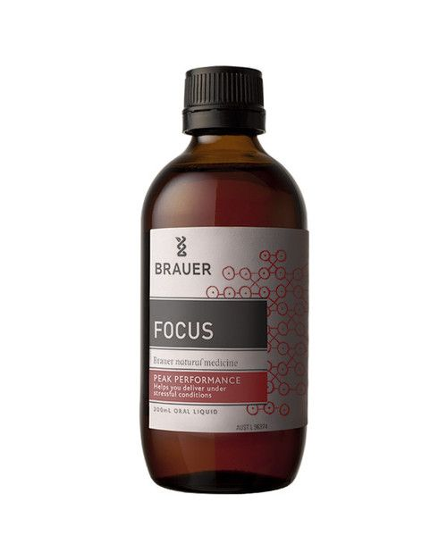 Focus 200mL- Focus Oral Liquid includes ingredients such as Korean Ginseng and Valerian which are traditionally used in homeopathic medicine to help relieve nervous tension, stress and mild anxiety. Focus may therefore be beneficial during times of stress such as exams, interviews and public speaking, helping you to remain focused and perform at your best.