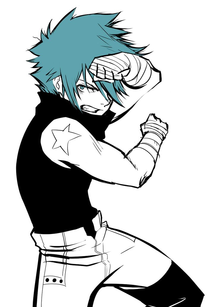 black star and soul eater evans | fan art soul eater sketches Black Star Chrona Soul Evans Dead the ...