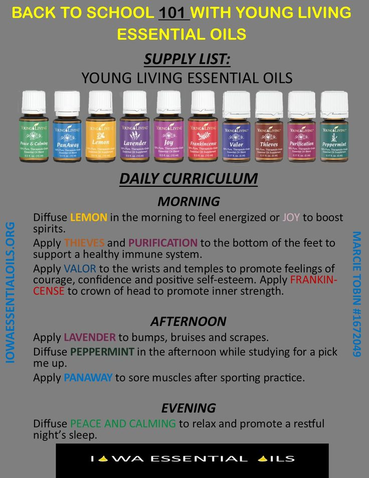 Back to school basics with Young Living Essential Oils.