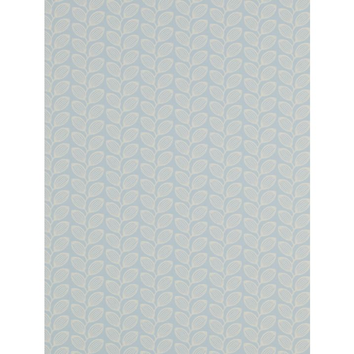 Buy Jane Churchill Retro Leaf Wallpaper, Blue, J137W-08 Online at johnlewis.com