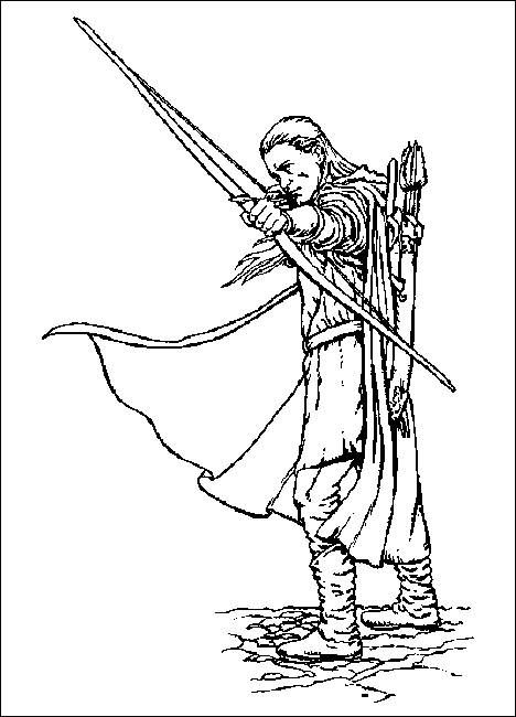 coloring pages lord of the rings 8 legolas - Lord Of The Rings Coloring Book
